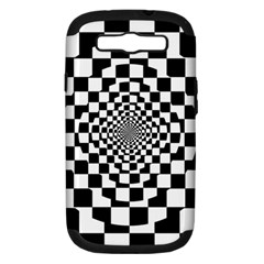Checkered Flag Race Winner Mosaic Tile Pattern Repeat Samsung Galaxy S Iii Hardshell Case (pc+silicone) by CrypticFragmentsColors