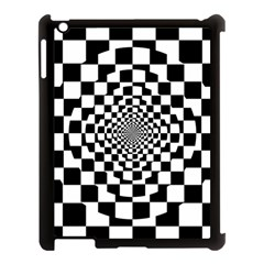 Checkered Flag Race Winner Mosaic Tile Pattern Repeat Apple Ipad 3/4 Case (black) by CrypticFragmentsColors