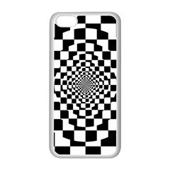Checkered Flag Race Winner Mosaic Tile Pattern Repeat Apple Iphone 5c Seamless Case (white) by CrypticFragmentsColors