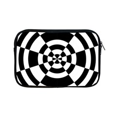 Checkered Flag Race Winner Mosaic Tile Pattern Round Pie Wedge Apple iPad Mini Zippered Sleeve by CrypticFragmentsColors