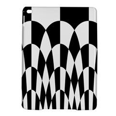 Checkered Flag Race Winner Mosaic Pattern Curves  Apple iPad Air 2 Hardshell Case