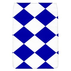 Harlequin Diamond Pattern Cobalt Blue White Removable Flap Cover (small) by CrypticFragmentsColors