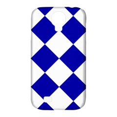 Harlequin Diamond Pattern Cobalt Blue White Samsung Galaxy S4 Classic Hardshell Case (pc+silicone) by CrypticFragmentsColors