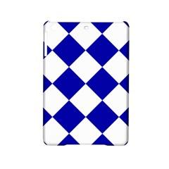 Harlequin Diamond Pattern Cobalt Blue White Apple Ipad Mini 2 Hardshell Case by CrypticFragmentsColors