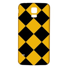 Harlequin Diamond Gold Black Samsung Galaxy S5 Back Case (white) by CrypticFragmentsColors