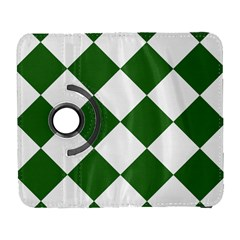Harlequin Diamond Green White Samsung Galaxy S  Iii Flip 360 Case by CrypticFragmentsColors