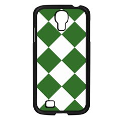 Harlequin Diamond Green White Samsung Galaxy S4 I9500/ I9505 Case (black) by CrypticFragmentsColors