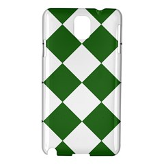 Harlequin Diamond Green White Samsung Galaxy Note 3 N9005 Hardshell Case by CrypticFragmentsColors
