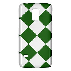 Harlequin Diamond Green White Samsung Galaxy S5 Mini Hardshell Case  by CrypticFragmentsColors
