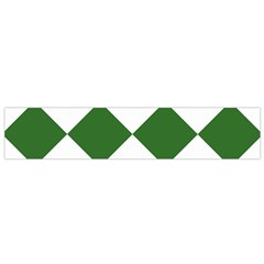 Harlequin Diamond Green White Flano Scarf (small) by CrypticFragmentsColors