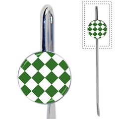 Harlequin Diamond Green White Bookmark by CrypticFragmentsColors