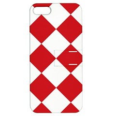 Harlequin Diamond Red White Apple Iphone 5 Hardshell Case With Stand by CrypticFragmentsColors