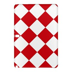 Harlequin Diamond Red White Samsung Galaxy Tab Pro 12 2 Hardshell Case by CrypticFragmentsColors