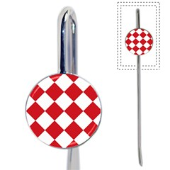 Harlequin Diamond Red White Bookmark by CrypticFragmentsColors