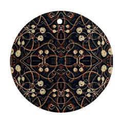 Victorian Style Grunge Pattern Round Ornament (two Sides) by dflcprints
