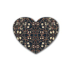Victorian Style Grunge Pattern Drink Coasters (heart) by dflcprints