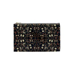 Victorian Style Grunge Pattern Cosmetic Bag (small) by dflcprints