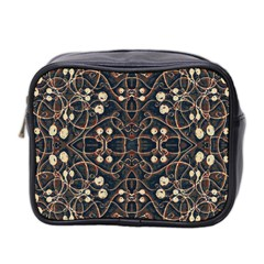 Victorian Style Grunge Pattern Mini Travel Toiletry Bag (two Sides) by dflcprints