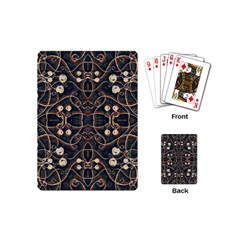 Victorian Style Grunge Pattern Playing Cards (mini) by dflcprints