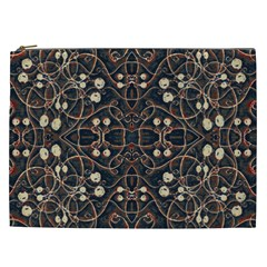 Victorian Style Grunge Pattern Cosmetic Bag (xxl) by dflcprints