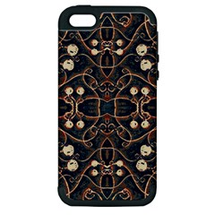 Victorian Style Grunge Pattern Apple Iphone 5 Hardshell Case (pc+silicone) by dflcprints