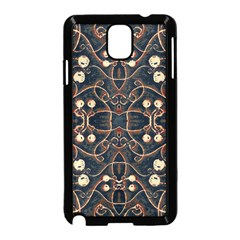 Victorian Style Grunge Pattern Samsung Galaxy Note 3 Neo Hardshell Case (black) by dflcprints