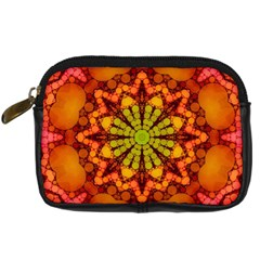 Florescent Abstract Digital Camera Leather Case by OCDesignss