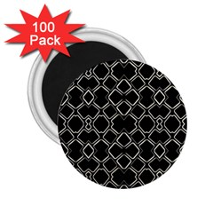 Geometric Abstract Pattern Futuristic Design  2 25  Button Magnet (100 Pack) by dflcprints