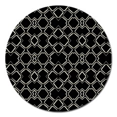 Geometric Abstract Pattern Futuristic Design  Magnet 5  (round) by dflcprints