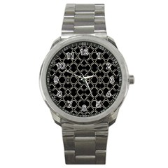Geometric Abstract Pattern Futuristic Design  Sport Metal Watch by dflcprints