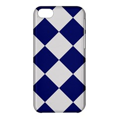Harlequin Diamond Argyle Sports Team Colors Navy Blue Silver Apple Iphone 5c Hardshell Case