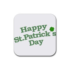 Happy St Patricks Text With Clover Graphic Drink Coasters 4 Pack (square) by dflcprints