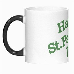 Happy St Patricks Text With Clover Graphic Morph Mug by dflcprints