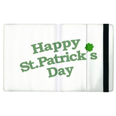 Happy St Patricks Text With Clover Graphic Apple Ipad 2 Flip Case by dflcprints
