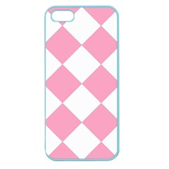 Harlequin Diamond Pattern Pink White Apple Seamless Iphone 5 Case (color) by CrypticFragmentsColors