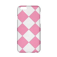 Harlequin Diamond Pattern Pink White Apple Iphone 6 Hardshell Case by CrypticFragmentsColors