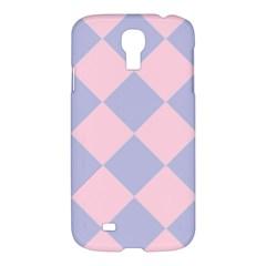 Harlequin Diamond Argyle Pastel Pink Blue Samsung Galaxy S4 I9500/i9505 Hardshell Case by CrypticFragmentsColors