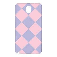 Harlequin Diamond Argyle Pastel Pink Blue Samsung Galaxy Note 3 N9005 Hardshell Back Case by CrypticFragmentsColors