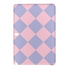 Harlequin Diamond Argyle Pastel Pink Blue Samsung Galaxy Tab Pro 12 2 Hardshell Case by CrypticFragmentsColors
