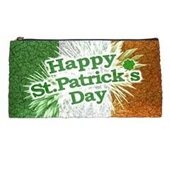 Happy St  Patricks Day Grunge Style Design Pencil Case by dflcprints
