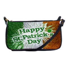 Happy St  Patricks Day Grunge Style Design Evening Bag by dflcprints