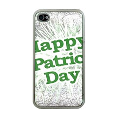 Happy St  Patricks Day Grunge Style Design Apple Iphone 4 Case (clear) by dflcprints