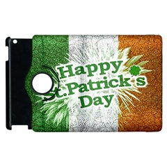 Happy St  Patricks Day Grunge Style Design Apple Ipad 3/4 Flip 360 Case by dflcprints