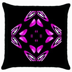 Abstract Pain Frustration Black Throw Pillow Case by FunWithFibro