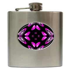 Abstract Pain Frustration Hip Flask by FunWithFibro