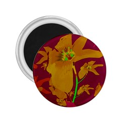 Tropical Hawaiian Style Lilies Collage 2 25  Button Magnet by dflcprints