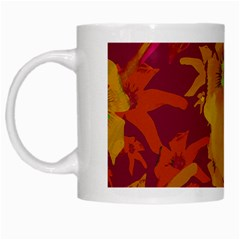 Tropical Hawaiian Style Lilies Collage White Coffee Mug by dflcprints