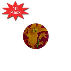 Tropical Hawaiian Style Lilies Collage 1  Mini Button Magnet (10 Pack) by dflcprints