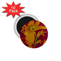 Tropical Hawaiian Style Lilies Collage 1 75  Button Magnet (10 Pack) by dflcprints