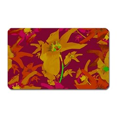 Tropical Hawaiian Style Lilies Collage Magnet (rectangular) by dflcprints